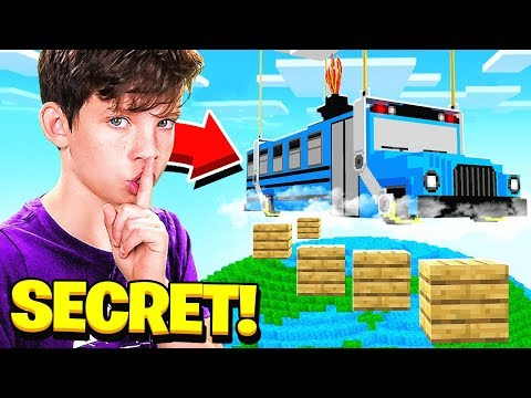 I FOUND MY LITTLE BROTHER'S *SECRET* FORTNITE MAP in MINECRAFT!