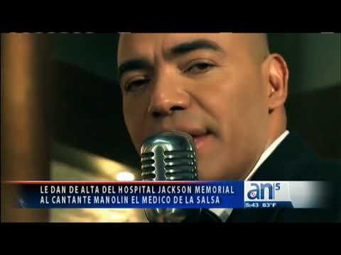 Le dan de alta del hospital Jackson Memorial al cantante Manol�n El medico de la Salsa