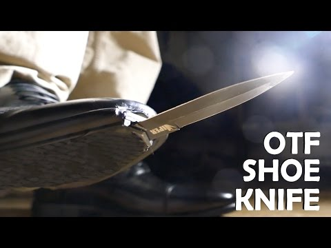 Homemade Spring Loaded SHOE KNIFE! - Spy OTF Knife (Joker Boot Knife / Kingsman IRL)