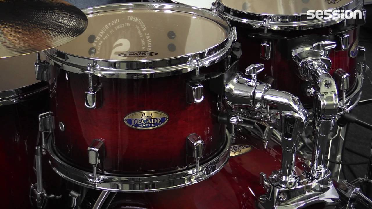 pearl decade maple drumset session youtube. Black Bedroom Furniture Sets. Home Design Ideas