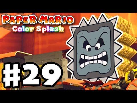 Paper Mario: Color Splash - Gameplay Walkthrough Part 29 - Toad Trainworks 100%! (Nintendo Wii U)