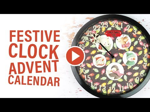 DIY Festive Clock Advent Calendar | Christmas Village by Helz Cuppleditch