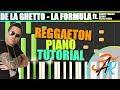 LA FORMULA (De La Ghetto) REGGAETON Piano Tutorial / Cover SYNTHESIA + MIDI & SHEETS