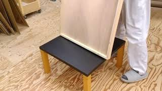 カウンター天板のリメイク方法、丸ごと被せるメラミン化粧板天板 thumbnail