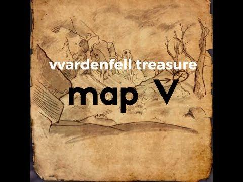 Carte Au Tresor Vvardenfell 1.Vvardenfell Treasure Map V Elder Scrolls Online Morrowind