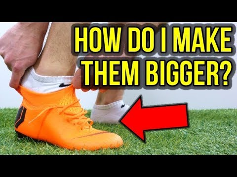 WHAT DO YOU DO IF YOUR FOOTBALL BOOTS ARE TOO SMALL?