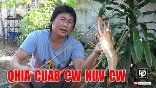 Qhia Nuv Cw Ntes Cw !! Qhia Ua Cw Noj !! วิธีตกกุ้งดักกุ้งที่ไม่เคยมีใครทำมาก่อน