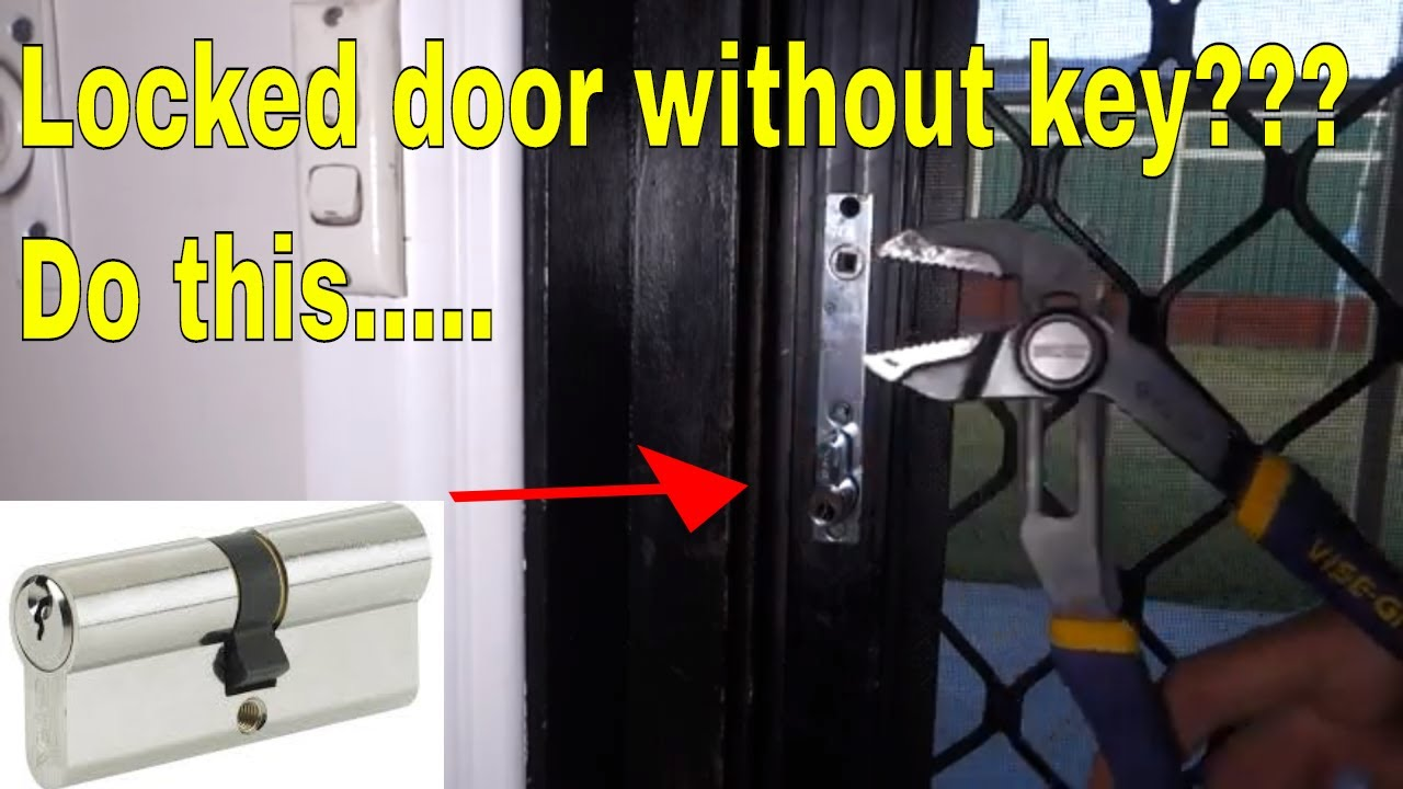 open locked door without key replace euro cylinder lock