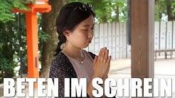Wie betet man in einem japanischen Schrein?