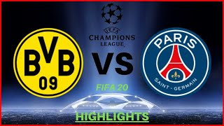 UEFA Champions League: Dortmund VS Paris  1  Highlights