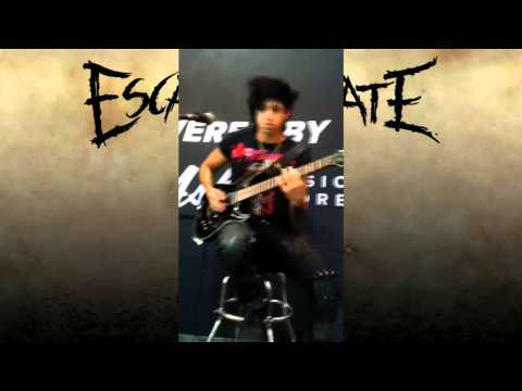 Kevin Thrasher Playing Live Fast, Die Beautiful [Escape the Fate]