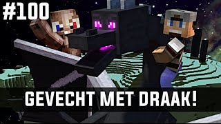 Minecraft survival #100 - GEVECHT MET DRAAK!