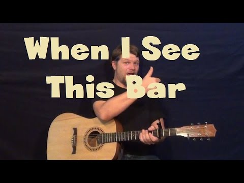 When I See This Bar (Kenny Chesney) Guitar Lesson Easy Strum Chord ...