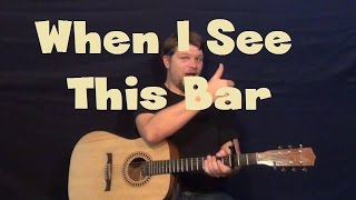 When I See This Bar (Kenny Chesney) Guitar Lesson Easy Strum Chord How to Play with Licks