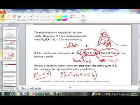 Continuous Distributions and Normal Distribution