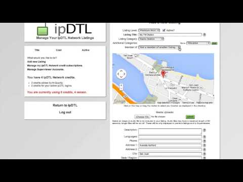 ipDTL Network - How to get listed