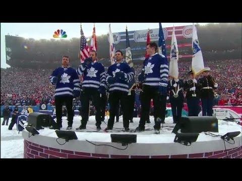 Canadian National Anthem at Winter Classic