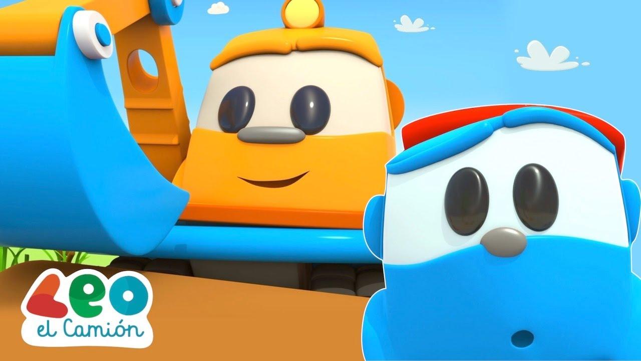 Leo el Camión - Excavadoras para niños - Canciones infantiles y capitulos en español