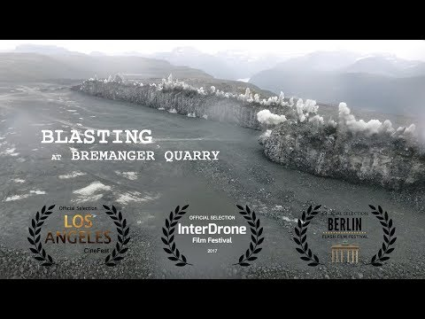 Blasting at Bremanger Quarry - Largest production blast in Norway ever