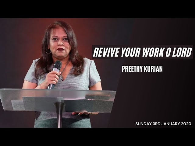 Revive your word o Lord! | Preethy Kurian | 3rd January 2021