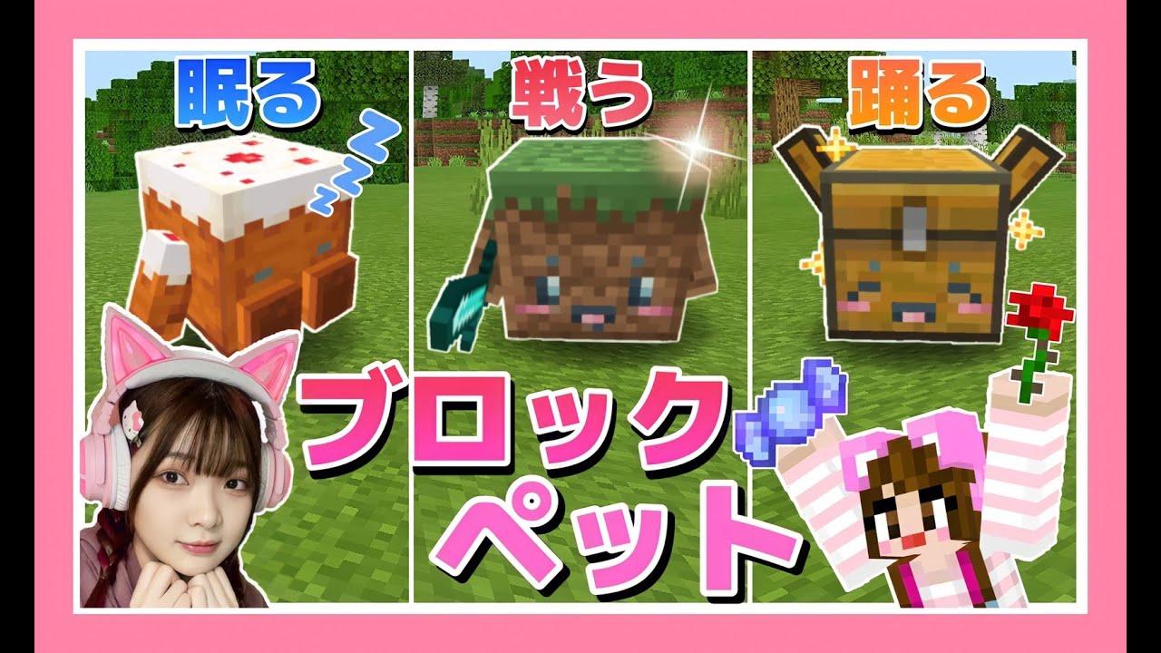 ブロックをペットにしたら天才すぎた!!【マイクラ】【マインクラフト】【Minecraft】【女性ゲーム実況者】【TAMAchan】