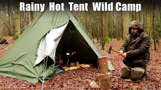 Winter Overnighter - H๐t Tent Camping in a Woodland