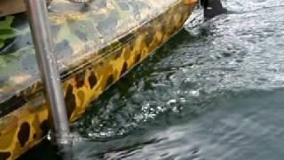 Essai moteur electrique sur canoë kayak biplace à voile