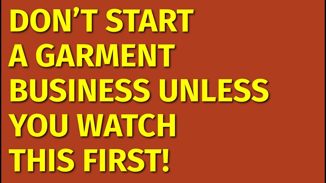 Download How to Start a Garment Business | Including Free Garment Business Plan Template