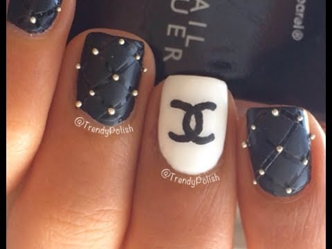 Chanel nail art tutorial youtube chanel nail art tutorial prinsesfo Images