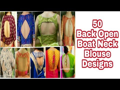 Latest Boat Neck Blouse Designs Blouse Designs Youtube