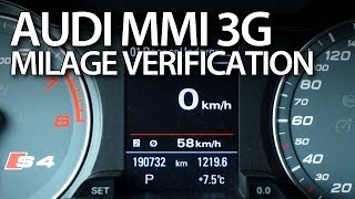 How to check correct milage in Audi MMI 3G (A1 A4 A5 A6 A7 A8 Q3 Q5 Q7)(, 2015-12-16T12:42:38.000Z)