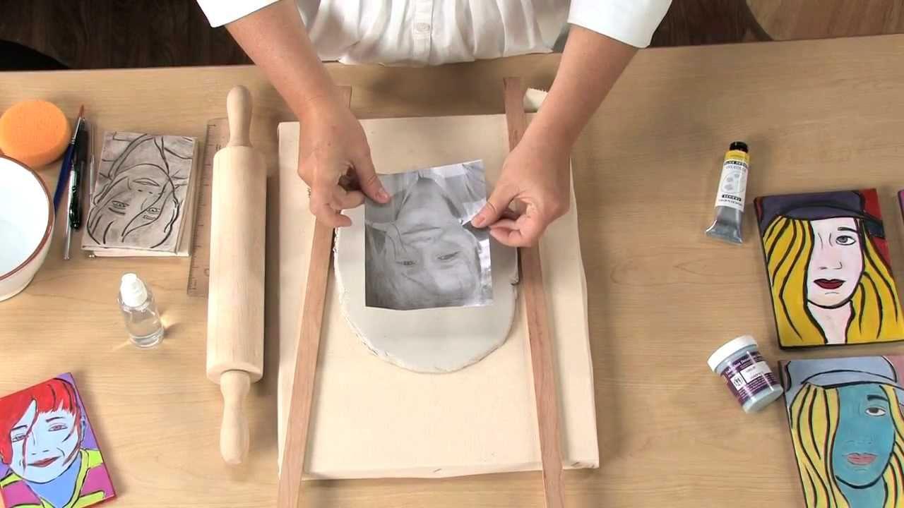 Pop Art Clay Portraits Lesson Plan