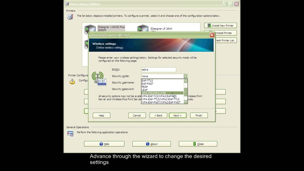 ZEBRA - Configure Network Settings