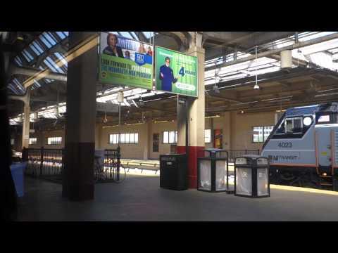 Train ride from NY Penn Station heading toward DE (Acela Express)