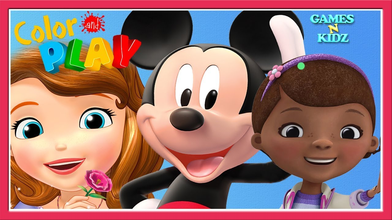 Mickey Mouse, Minnie, Doc McStuffins, Sofia The First - 3D Color & Play -  Disney Junior Kids Games