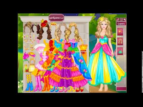 Barbie's Castle Dress Up- Online game Free Kids