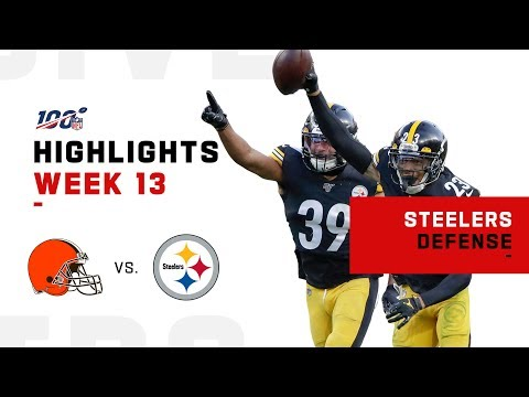Steelers Defense Sacks Baker 5 Times! | NFL 2019 Highlights