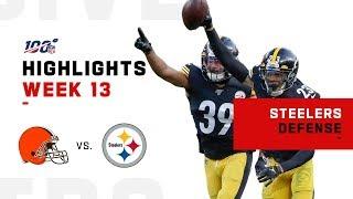 Steelers Defense Sacks Baker 5 Times! | NFL 2019 Highlights