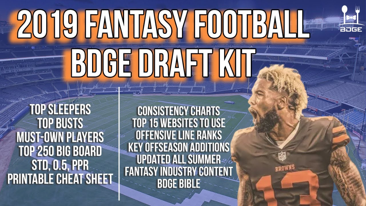 The 2019 Bdge Fantasy Football Draft Kit Statusi Online