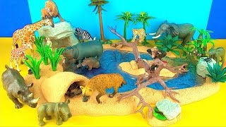 Learn about Wild Animals, Happy cute zoo animals, Hippo Elephant - Fun Facts -  Kids Toys