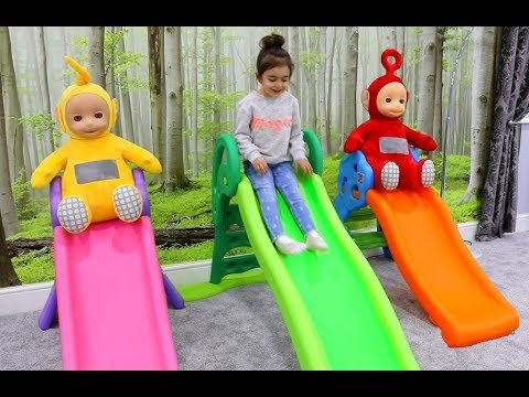 🌸Teletubbies Sliding Down Having Fun
