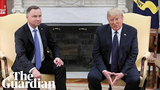 Donald Trump holds press conference with Polish president Andrzej Duda – watch live