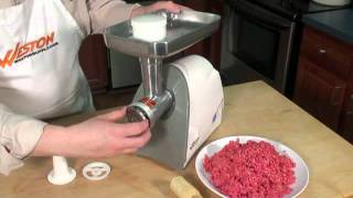 Weston 575 Watt Electric Meat Grinder
