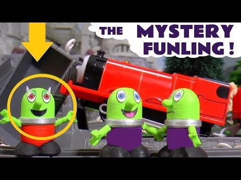 Funny Funlings new mystery Funling game with Thomas and Friends toy trains - Fun kids toy story TT4U