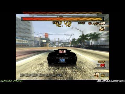 XQEMU Xbox Emulator - Burnout Revenge Ingame - Realtime! (WIP)