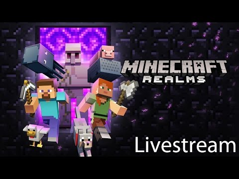 Minecraft Pocket Edition: Survival Realm Livestream: Skyland Online 3