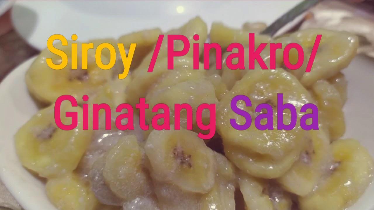 Download Siroy na saba / Pinakro /Ginatang Saba