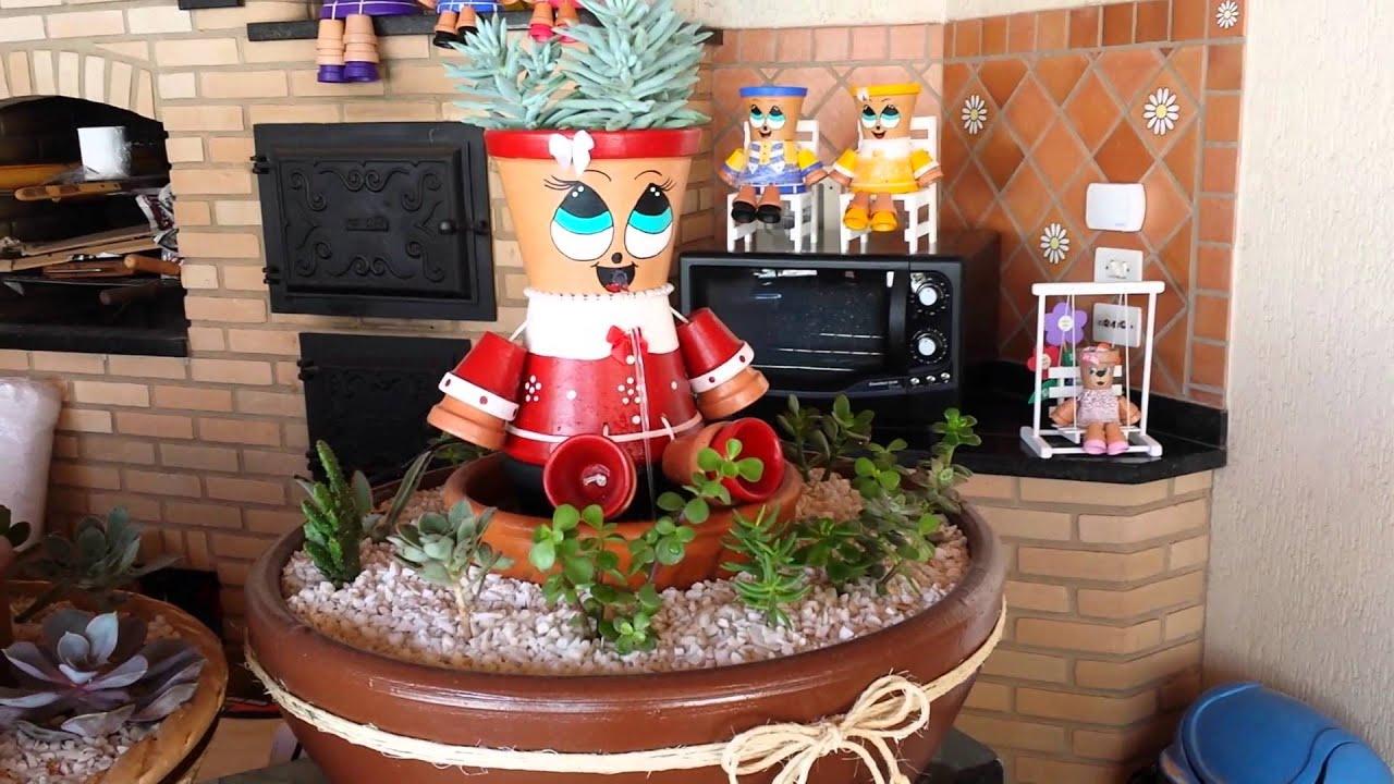 artesanato mini jardim : artesanato mini jardim:Mini Jardim de suculentas com fonte – YouTube