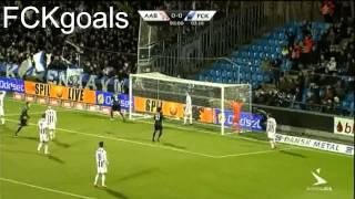Hooligans ruin the match! Aalborg B.K. Against F.C. København 1-1 (4/3/12)