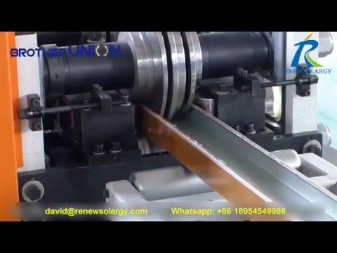 Metal door and window frame production line